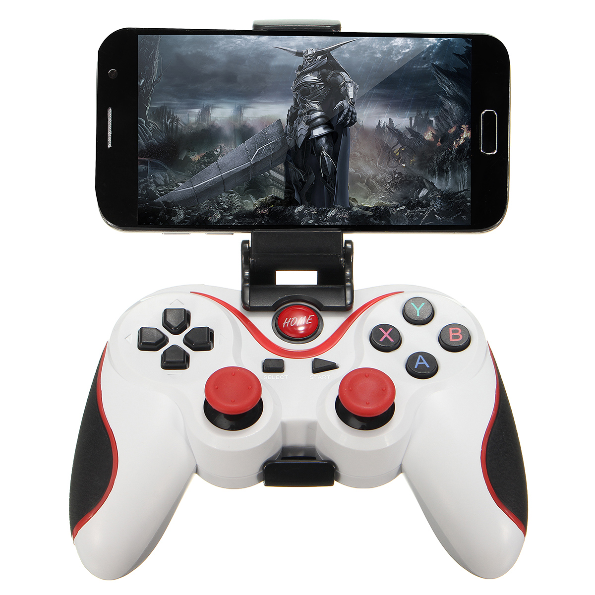 T3 Wireless Bluetooth Gamepad Gaming Controller for Android Smartphone Tablet PC with Mobile Phone Bracket Today's Special Offer!