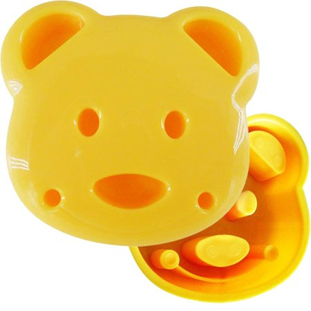 Slate Bread - | Adorable Bear Sandwich Mold Design | Easy Usage, Just Press With Power on 2 Slices of Bread | Premium Non Stick and Safe PP Material | Dishwasher Safe |.., By Cute Bear Sandwich Mold