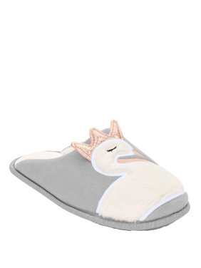 Secret Treasures Women's Swan Scuff Animal Slipper
