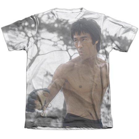 Bruce Lee Battle Ready (Front Back Print) Mens Sublimation Poly Cotton Shirt