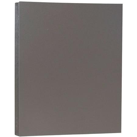 JAM Paper Premium Paper Cardstock, 8.5 x 11, 80 lb Dark Gray Cover, 50 Sheets/Pack