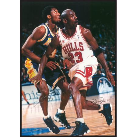 Jordan & Kobe In Action Michael Jordan & Kobe Bryant Poster (List Of Career Achievements By Kobe Bryant)