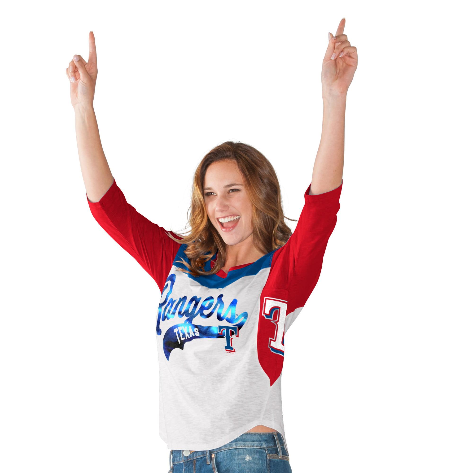 Texas Rangers Hands High Women's Season's Pass 3/4 Sleeve T-Shirt - White