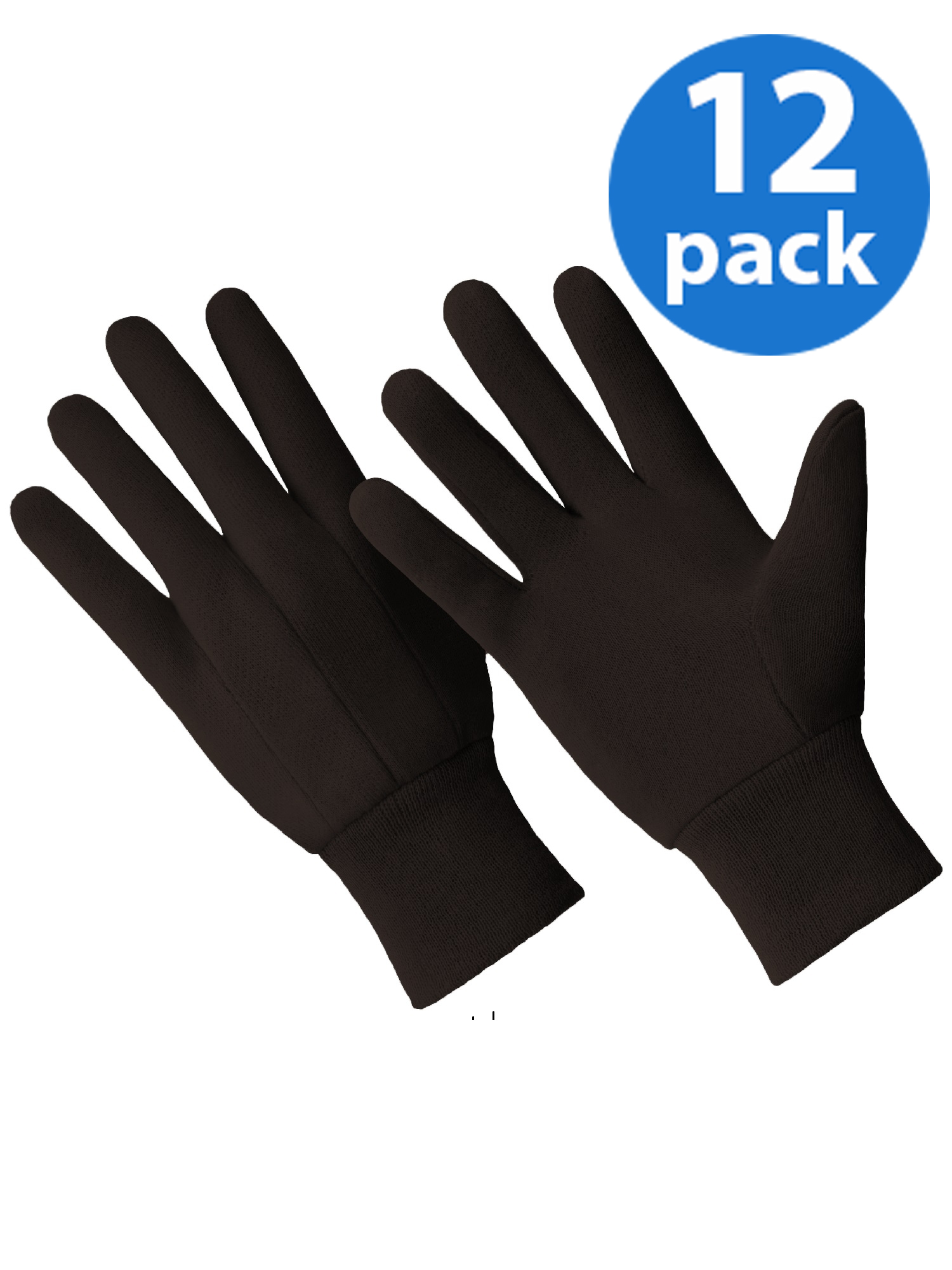 CT7000-L-12PK, 12 Pair Value Pack, Poly/Cotton Blend Brown Jersey Glove