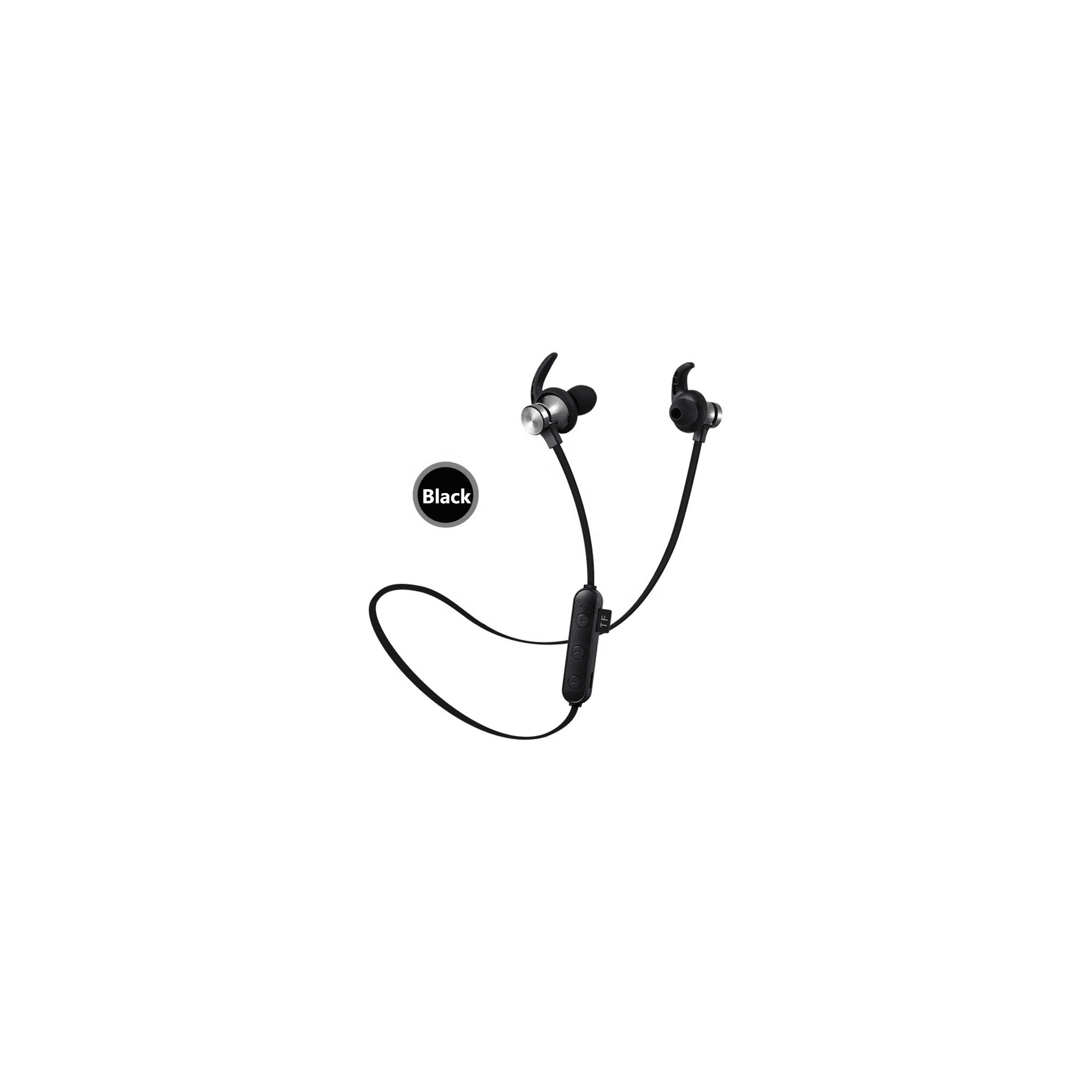 Black Wireless Sports Earbuds Xt22 Bluetooth Headphones Magnetic Attraction Wireless Bluetooth Headset Build In Mic Pluggable Tf Card Walmart Canada