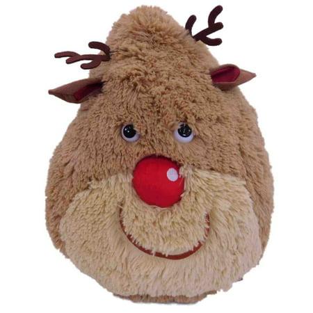 Christmas Chubby Reindeer Stuffed Animal 12  Plush Pillow Pal