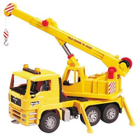 Bruder Toys Caterpillar (Bruder Toys MAN Yellow Crane Truck with 360-Degree Swiveling Crane |)