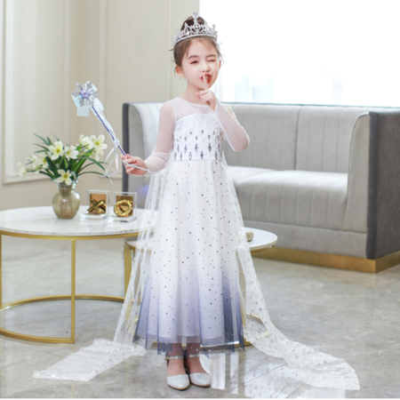 Girls Frozen 2 Elsa Princess Dress Up Costumes Halloween Christmas Fancy Party Dresses - image 6 of 7