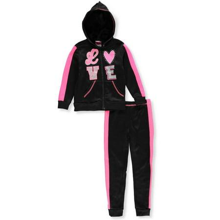 Diva Girls' 2-Piece Sweatsuit Pants Set - Diva Outfits