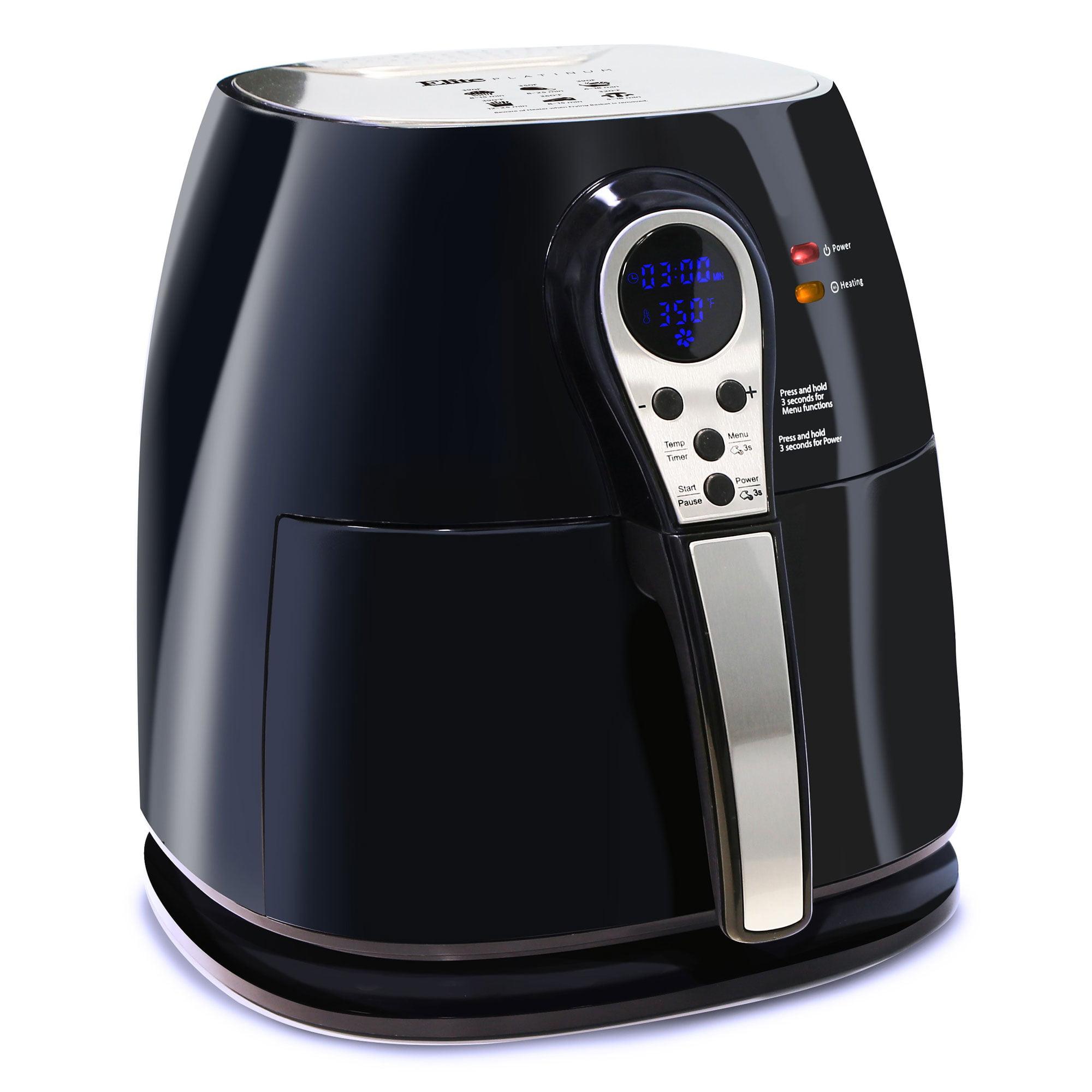 Maxi Matic 3.2 Qt. Capacity Oil Free 1400W Healthy Home Kitchen Air Fryer, Black