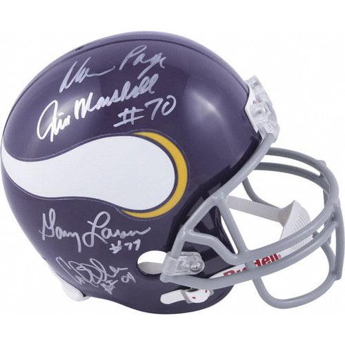 NFL - Minnesota Vikings Autographed Helmet | Details: Purple People Eaters, Riddell Replica Helmet