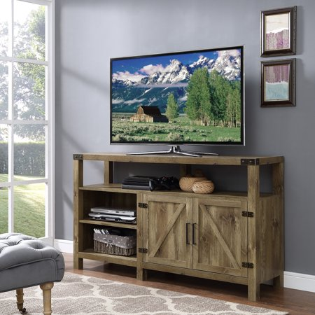 "Manor Park Modern Farmhouse Tall Barn Door TV Stand for TVs up to 64"" - Barnwood"