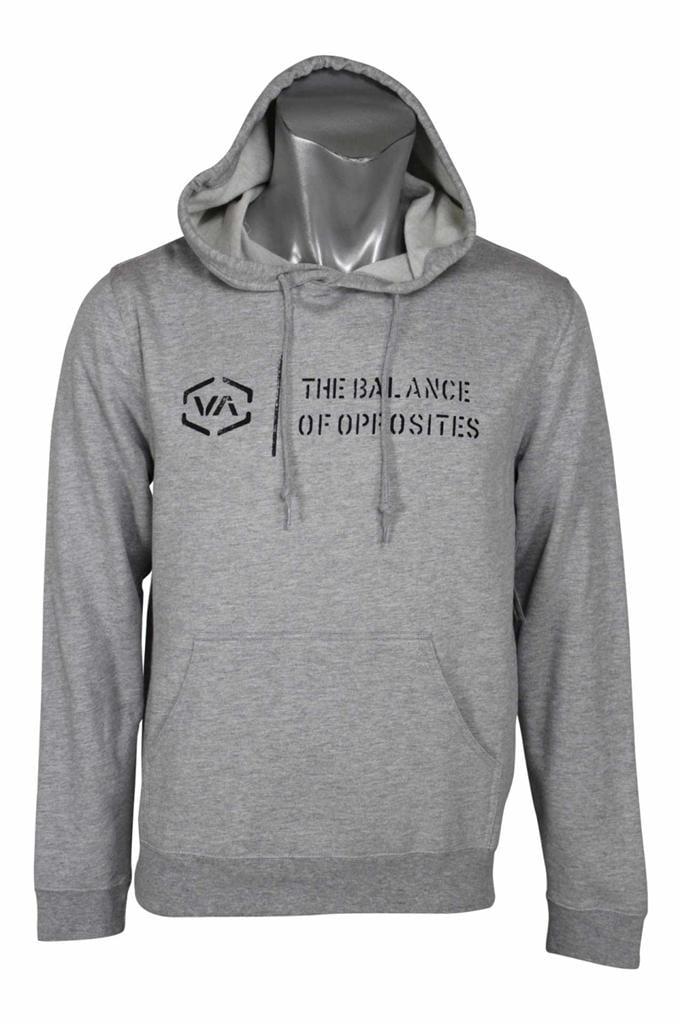 Athletic Gray//Black RVCA Mens VA Sport Balance Box Hoodie