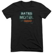 Psycho Bates Motel Distressed Mens Tri-Blend Short Sleeve Shirt
