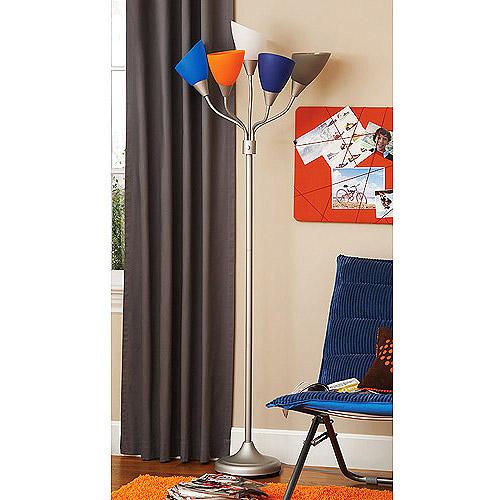 your zone 5 arm floor lamp, blue multi