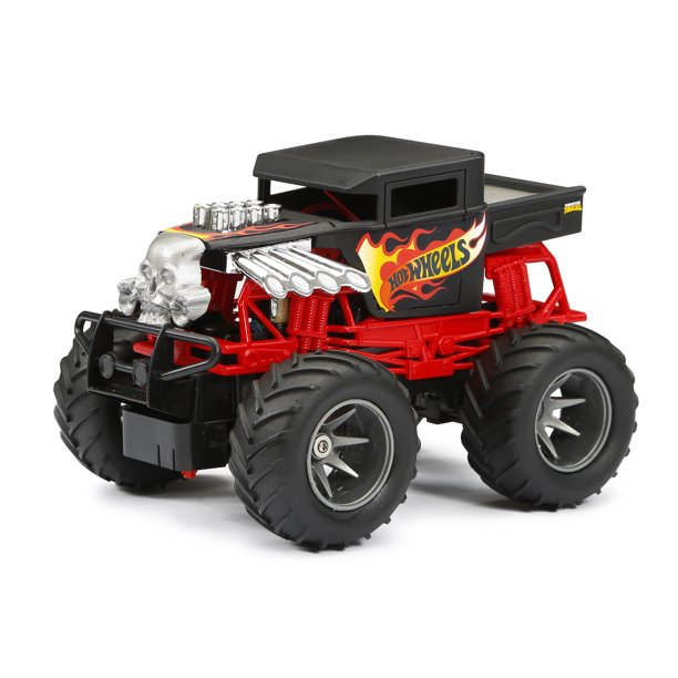 New Bright RC 1:24 Scale Hot Wheels Monster Truck - Bone Shaker