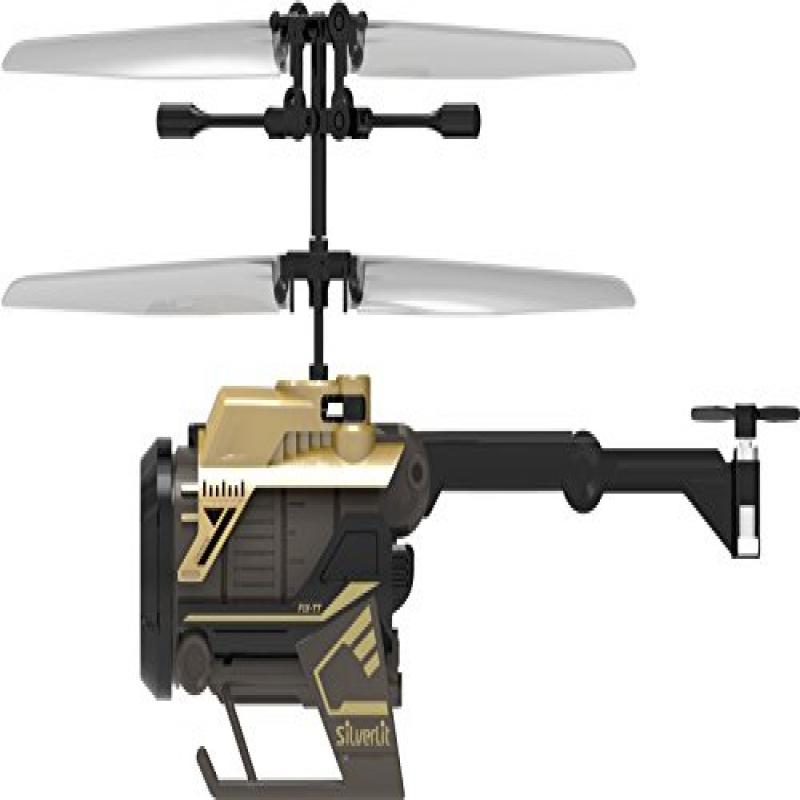 Silverlit Nano Spy Cam Video Helicopter, Gold Black by