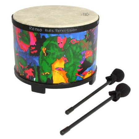 Remo Kids Percussion Floor Tom Drum - Fabric Rain Forest, -