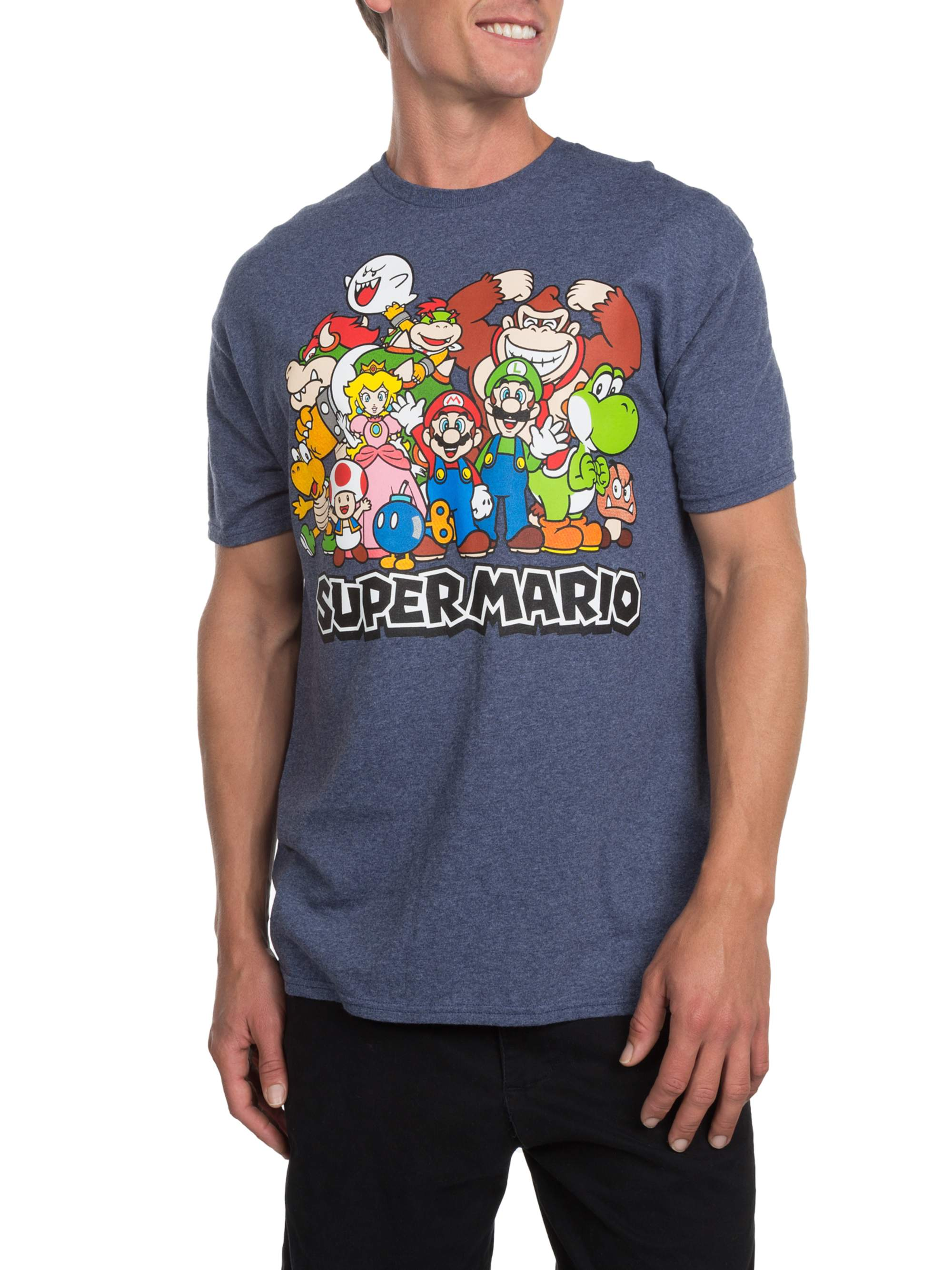 Super Nintendo Squad Men's Short Sleeve Graphic T-shirt, up to Size 3XL