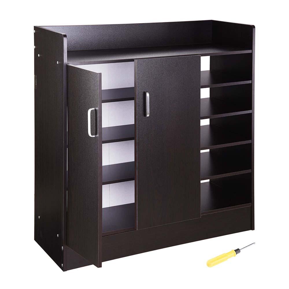 Yescom 31.5\ x12\ x35\  Shoes Cabinet 2-Door 18 Pairs Storage Organizer  sc 1 st  Walmart & Kitchen Cabinets with Doors \u0026 Shelves