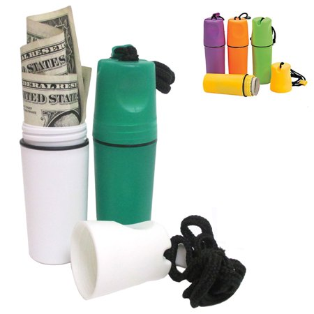 Plastic Waterproof Storage Case Money Coin Holder Container Cover Beach Safe New ()