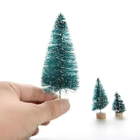 Winter Christmas Decor - Heepo Christmas Winter Tree Mini Cedar Ornaments Party Dolls House Miniature Decor