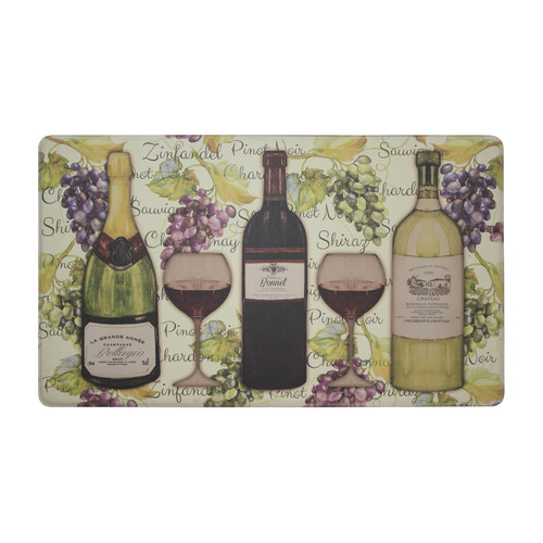 "Chef Gear Wine Tasting Anti-Fatigue Gelness Comfort 18"" x 30"" Chef Mat"
