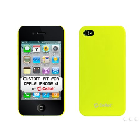 Cellet Neon Green Ultra Thin One Piece Proguard For Apple iPhone 4 (AT&T Phone