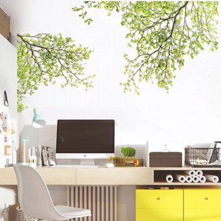 Nature Vinyl Wall Art Tree Branch Wall Decal Sticker -  Easy to Apply & Removable & Stick Wall Art Sticker