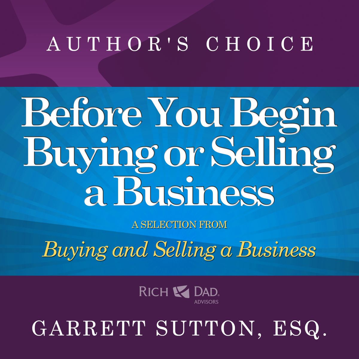 Before You Begin Buying or Selling a Business - Audiobook