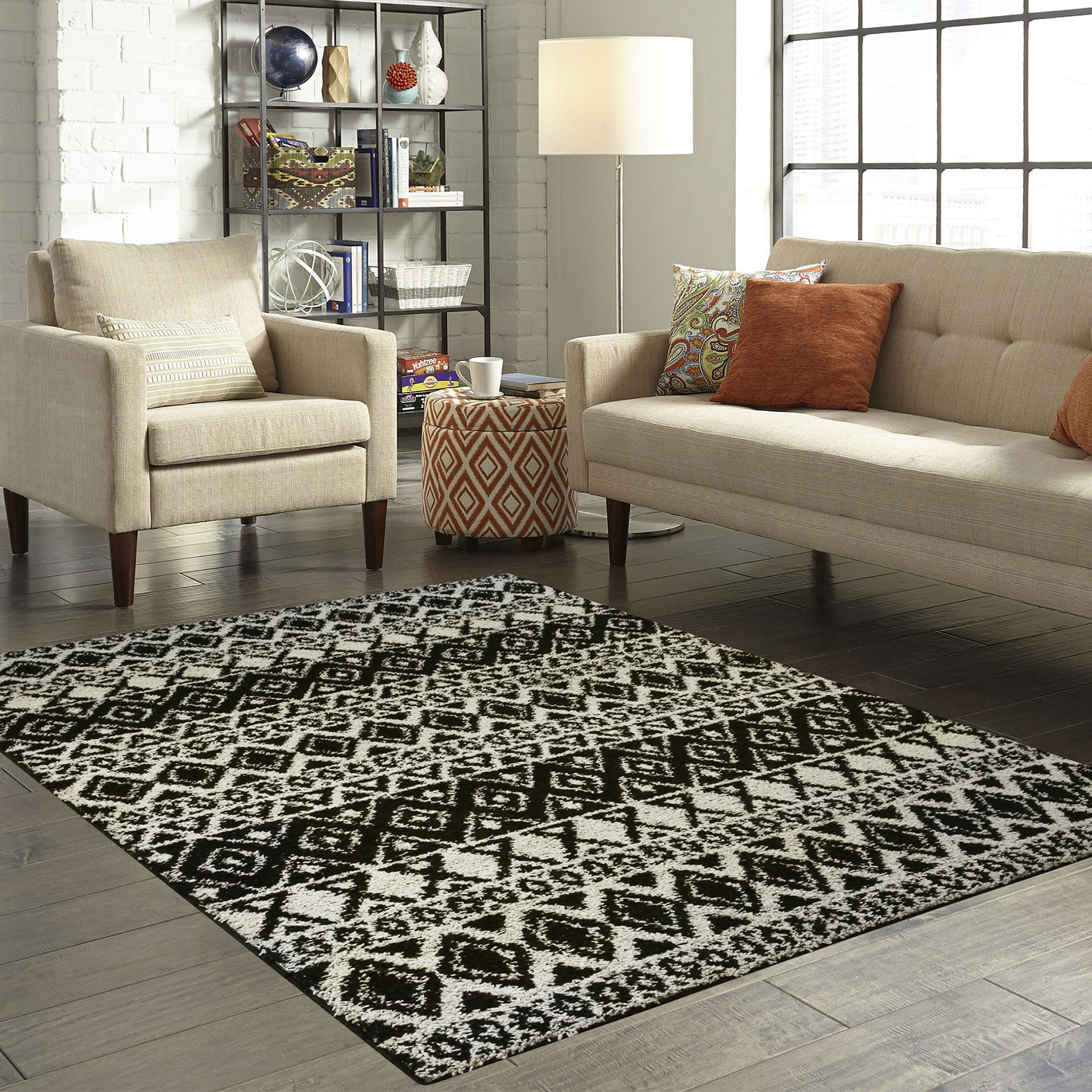Amazing Mainstays Hayden Shag Area And Runner Rug Collection