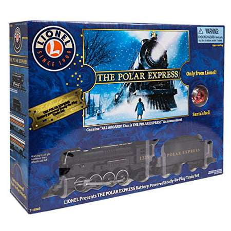 Lionel The Polar Express Battery Powered Ready-To-Play Train Set with Santa