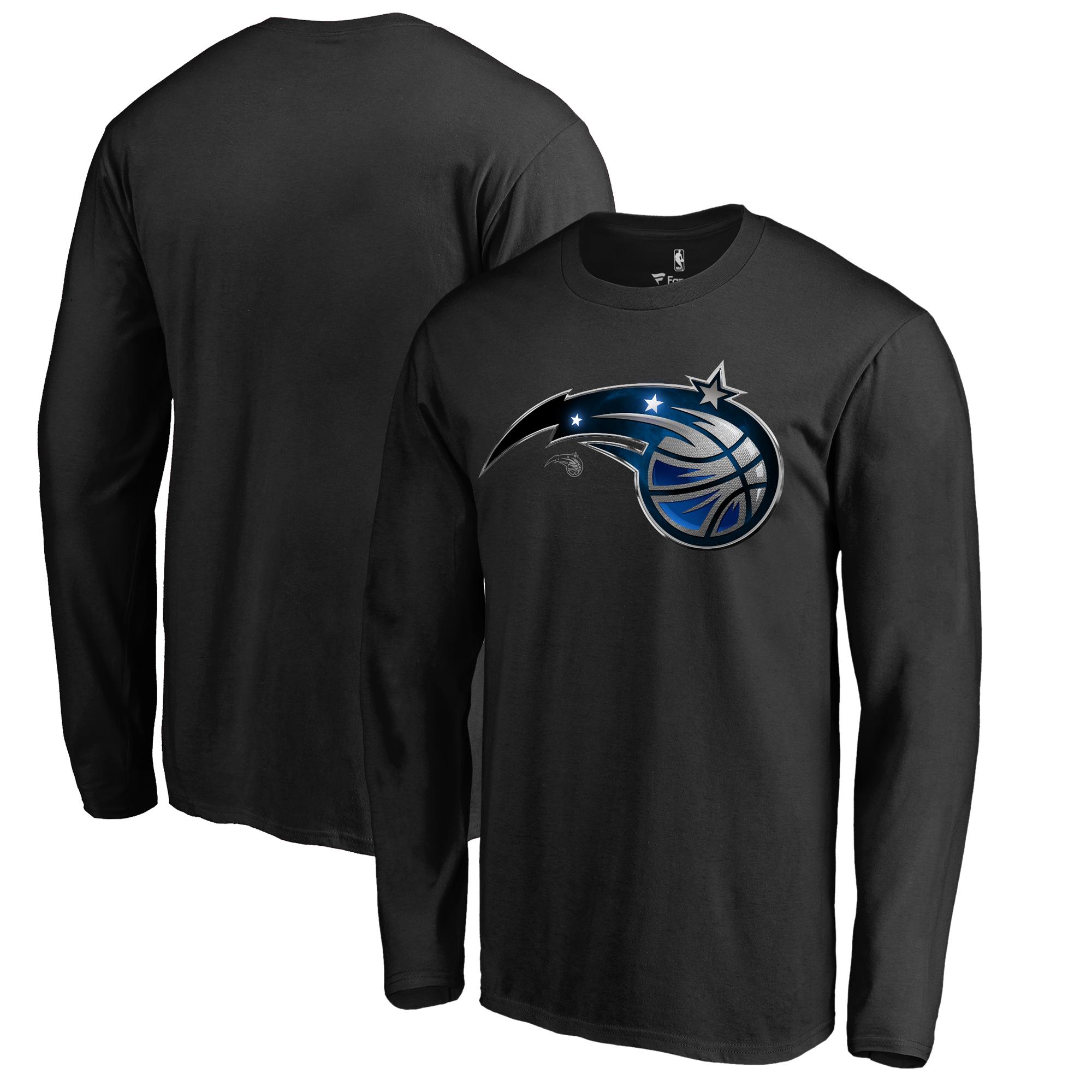 Orlando Magic Fanatics Branded Midnight Mascot Long Sleeve T-Shirt - Black