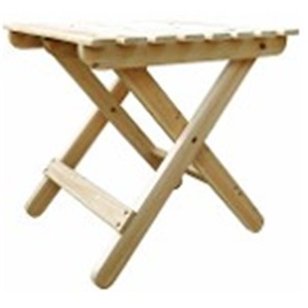 Shine Company 4109Bw Adirondack Folding Table  44  Bees Wax