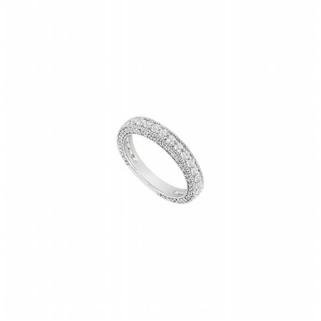 Fine Jewelry Vault UBW1255BAGCZ CZ Wedding Band, Sterling Silver - 1 CT CZs, 111 - Vault 111