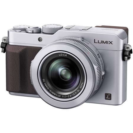 Panasonic Lumix DMC-LX100 4K Wi-Fi Digital Camera (Silver) Micro Four Thirds / Full HD 60P Video / Leica 24-75mm f/1.7-2.8 (Panasonic Lumix Dmc Lx100 Digital Camera Silver)