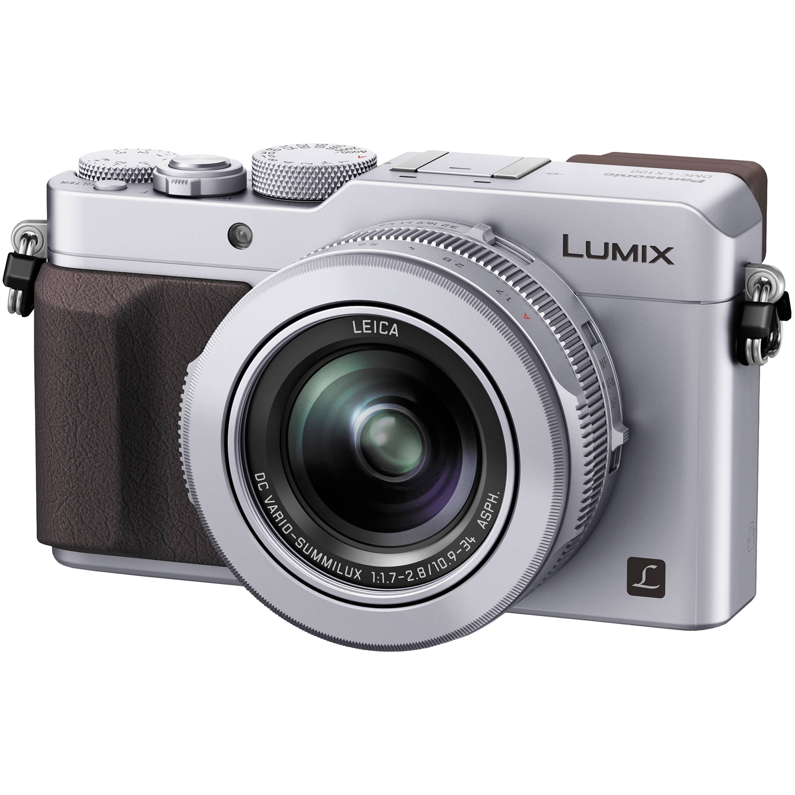Panasonic Lumix DMC-LX100 4K Wi-Fi Digital Camera (Silver) Micro Four Thirds / Full HD 60P Video / Leica 24-75mm f/1.7-2.8 Lens