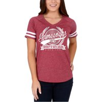 1a54383f3 Women s Garnet South Carolina Gamecocks Laurel Script V-Neck T-Shirt