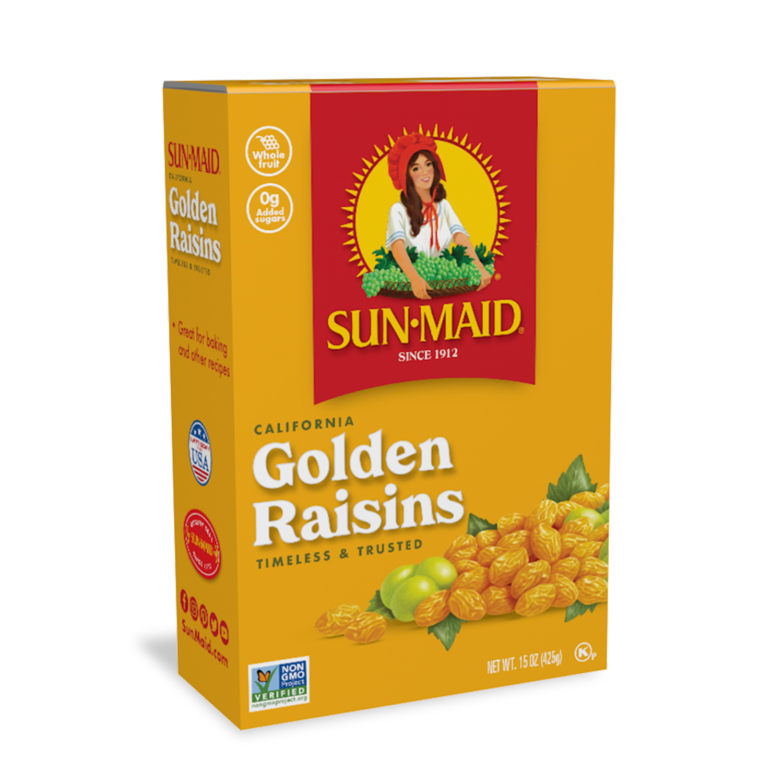Sun Maid California Raisins Golden 15 Oz Walmart Com Walmart Com