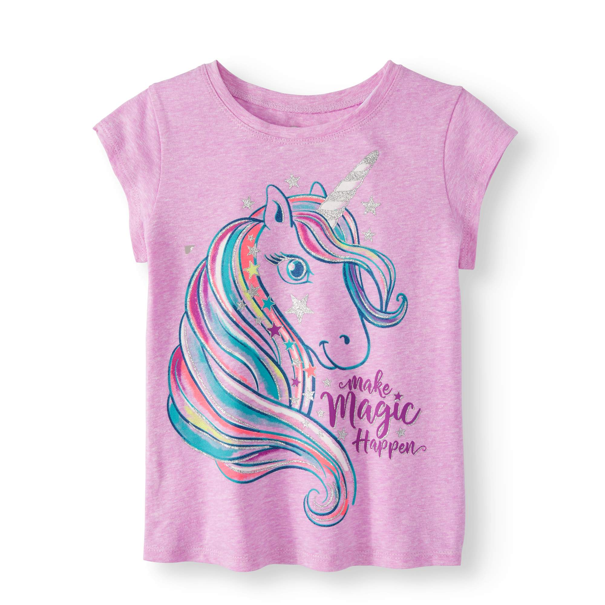 Little Girls' 4-8 Short Sleeve Graphic T-Shirt