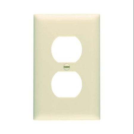 10 Pack Ivory Duplex Outlet Nylon Wall Plate, Pass & Seymour, TP8ICP10 (10 Outlet Ultimate Protection)