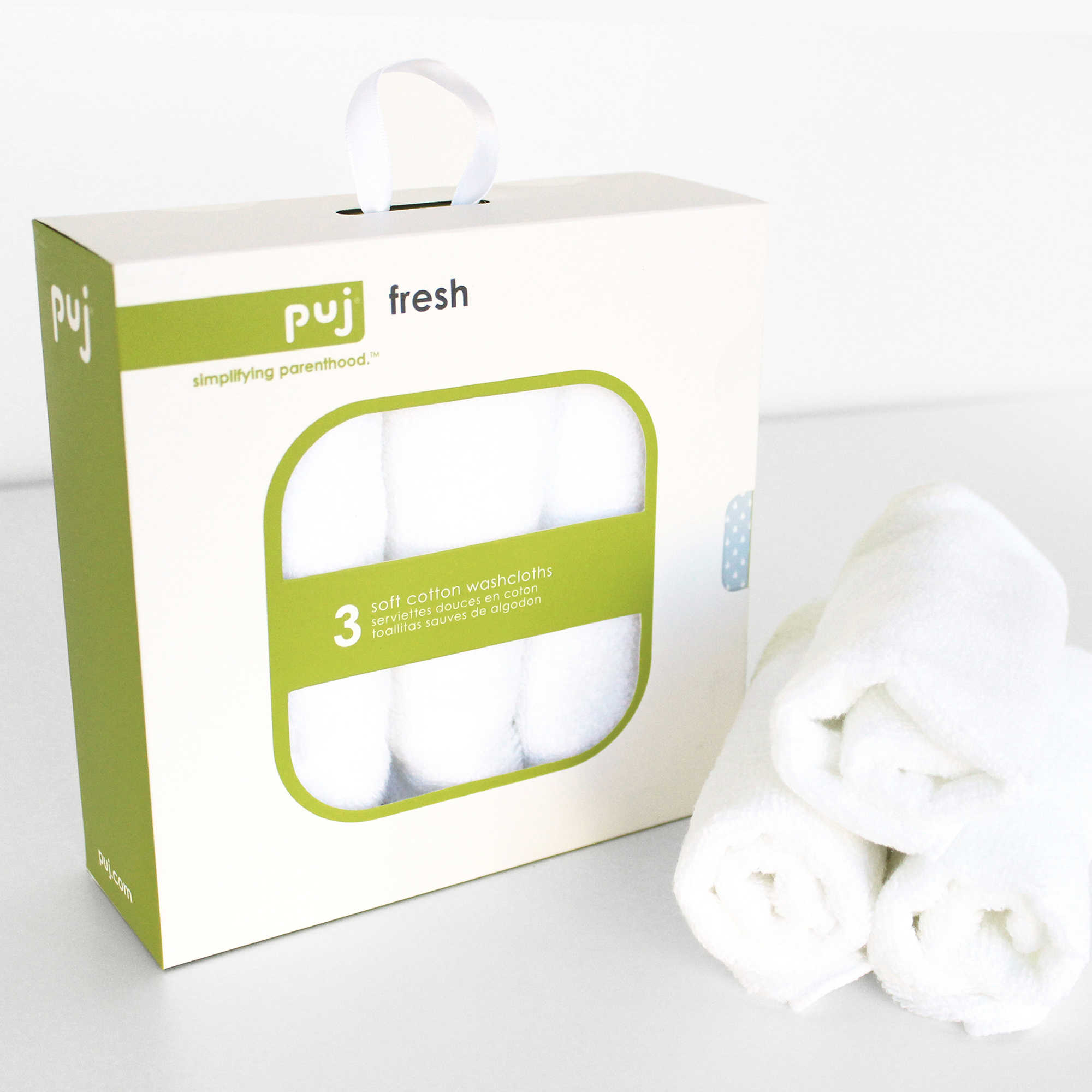 Puj Fresh 3-Pack Washcloths