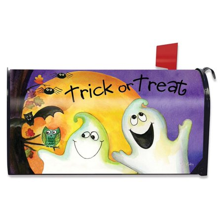Trick or Treat Ghouls Halloween Mailbox Cover Ghosts Standard Briarwood Lane - Halloween Ghost Trick Or Treat