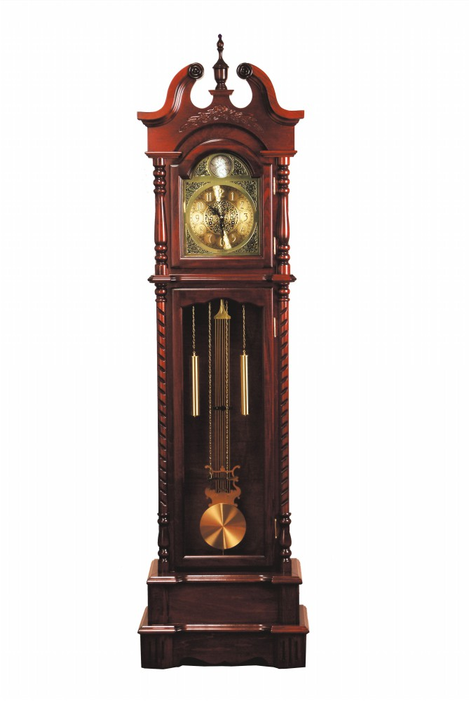 1PerfectChoice Traditional Style Grandfather Clock Broadmoor Dark Walnut Analog Clock Face New by 1PerfectChoice