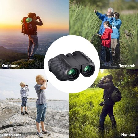 Peroptimist Small Lightweight Binoculars for Adults/Kids, 10x25 Compact Binoculars Hunting Best Bird Watching Glasses Quality Travel Night Vision Portable HD Binoculars for Concerts Hunting