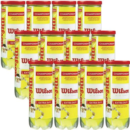Wilson Championship Extra-Duty Tennis Balls (12 cans, 36