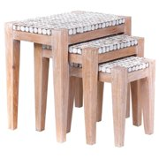 East at Main 's Decorative Keno Modern Tan Square Nesting Table