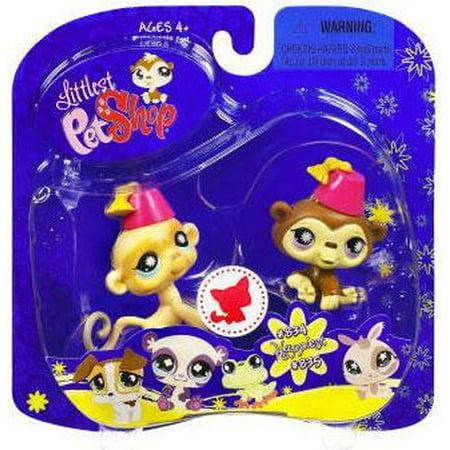 Littlest Pet Shop 2009 Assortment B Series 2 Chimp & Monkey Figure 2-Pack