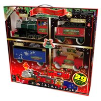 Happy Holiday Express Christmas Train Set, 29 Pieces
