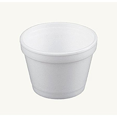 Dart 4J6, 4-Ounce Customizable White Foam Cold And Hot Food Container with Translucent Non-Vented Lid, Dessert Ice-Cream Yogurt Cups, Sauce Dressing Containers with Matching Covers (100)